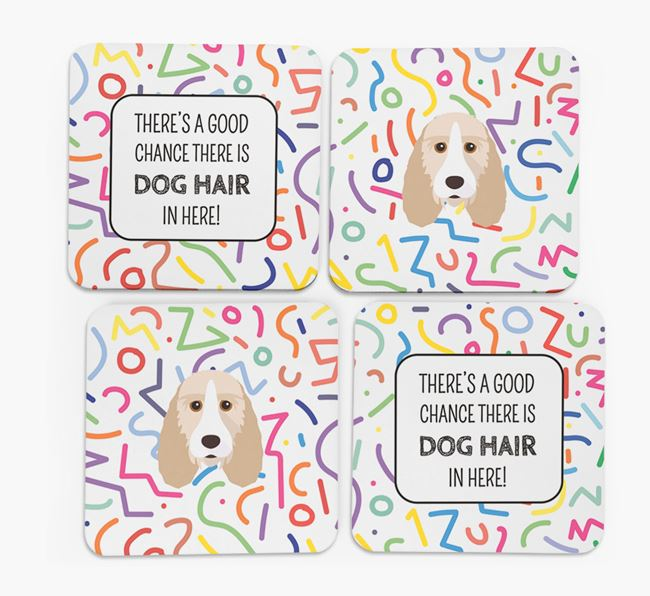 'Chance of Dog Hair' Coasters with Grand Basset Griffon Vendeen icon