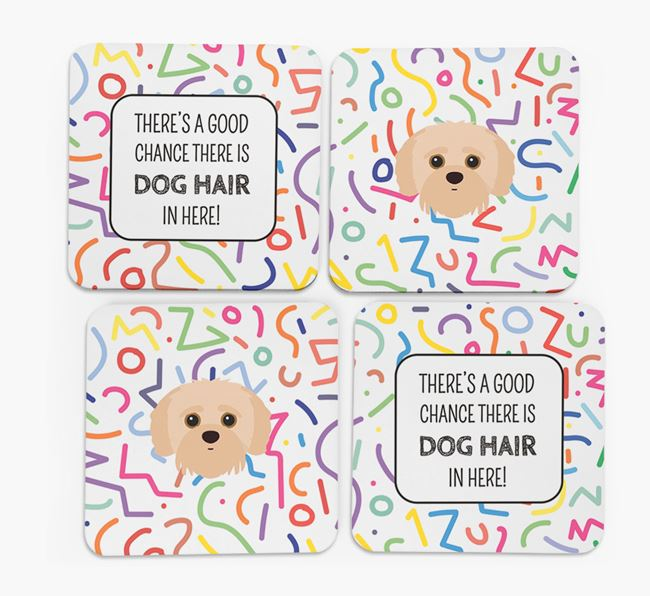 'Chance of Dog Hair' Coasters with Jack-A-Poo icon