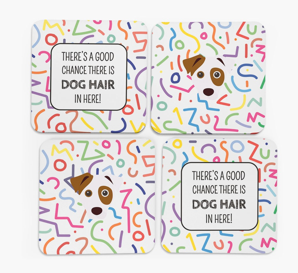 'Chance of Dog Hair' Coasters in Set of 4