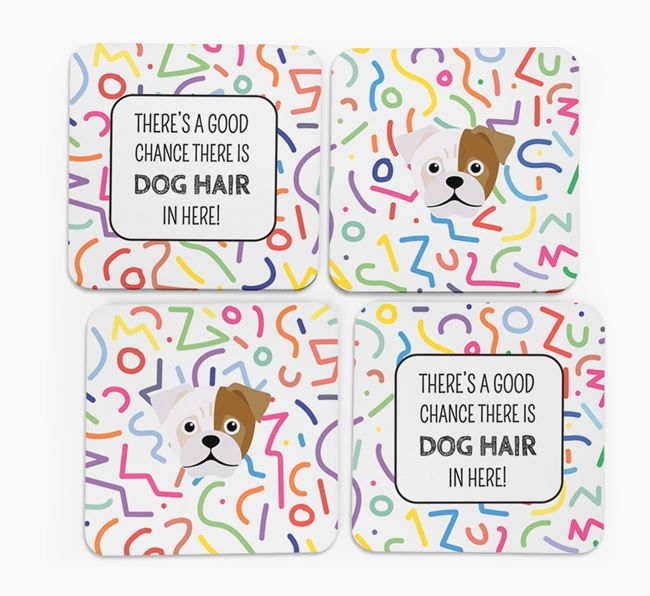 'Chance of Dog Hair' Coasters with Jug icon