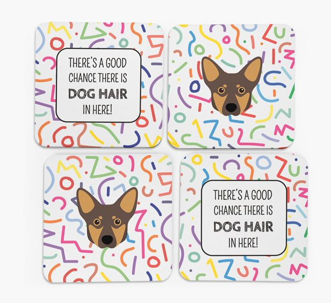 'Chance of Dog Hair' Coasters with Lancashire Heeler icon