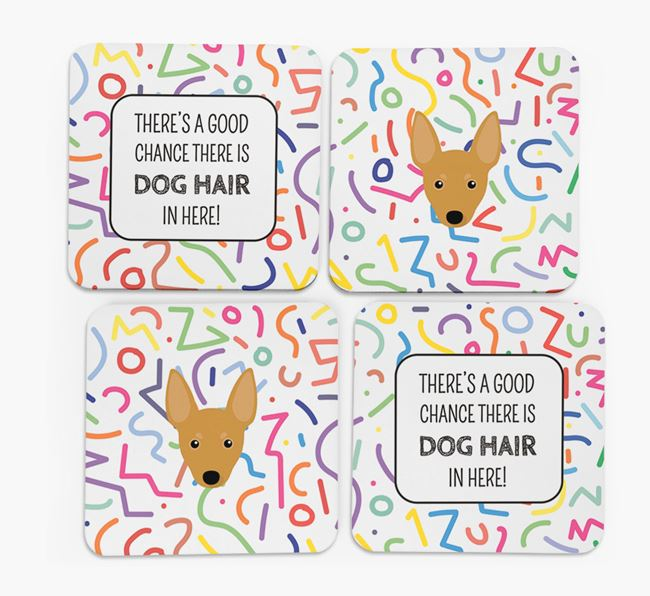 'Chance of Dog Hair' Coasters with Miniature Pinscher icon