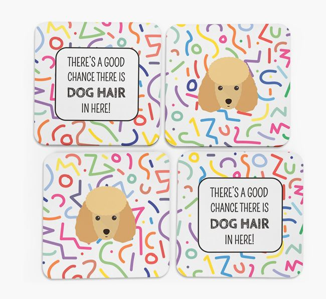 'Chance of Dog Hair' Coasters with Miniature Poodle icon