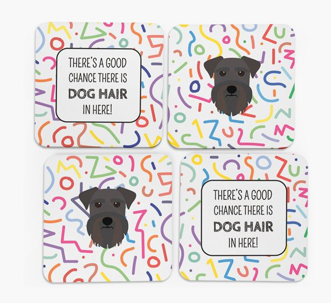 'Chance of Dog Hair' Coasters with Miniature Schnauzer icon