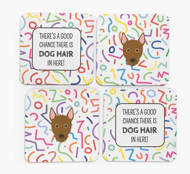'Chance of Dog Hair' Coasters with Mixed Breed icon