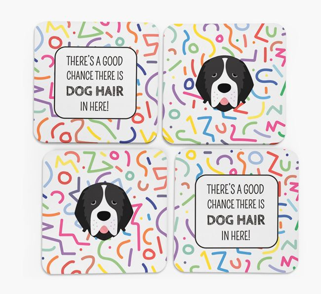 'Chance of Dog Hair' Coasters with Newfoundland icon