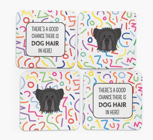 'Chance of Dog Hair' Coasters with Skye Terrier icon