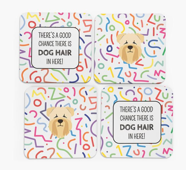 'Chance of Dog Hair' Coasters with Soft Coated Wheaten Terrier icon
