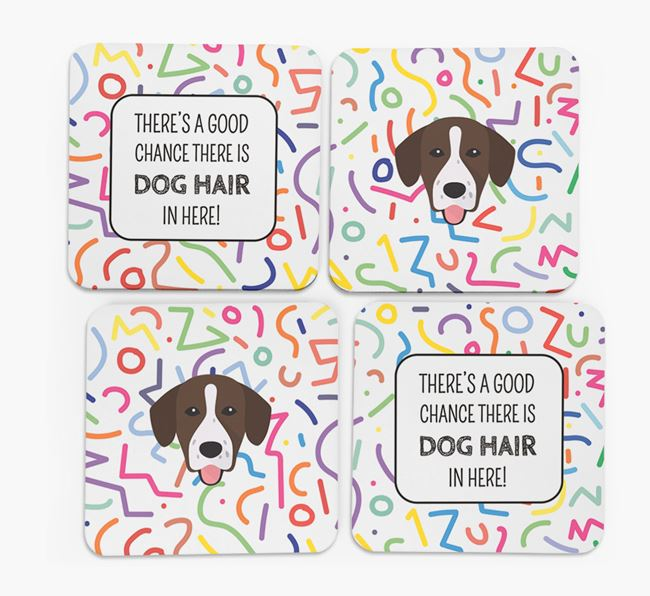 'Chance of Dog Hair' Coasters with Springador icon