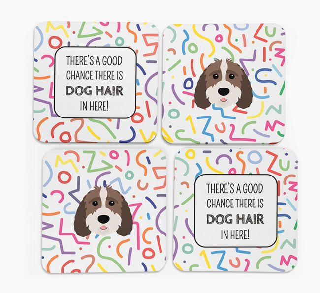 'Chance of Dog Hair' Coasters with Sproodle icon