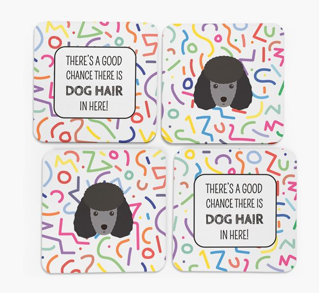 'Chance of Dog Hair' Coasters with Toy Poodle icon