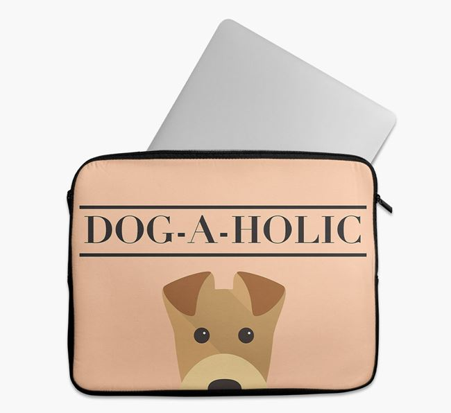 'Dog-A-Holic' Tech Pouch with Airedale Terrier Yappicon