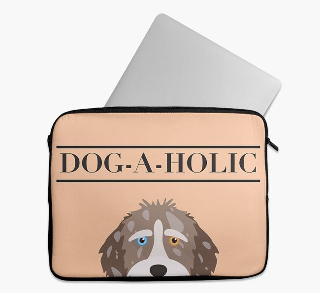 'Dog-A-Holic' Tech Pouch with Aussiedoodle Yappicon