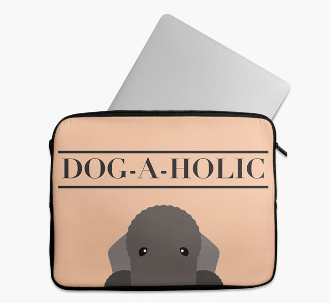 'Dog-A-Holic' Tech Pouch with Bedlington Terrier Yappicon