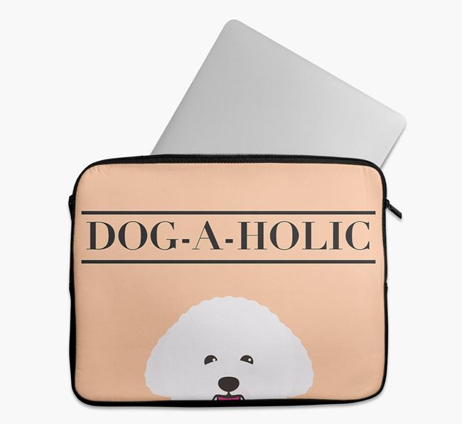 'Dog-A-Holic' Tech Pouch with Bichon Frise Yappicon