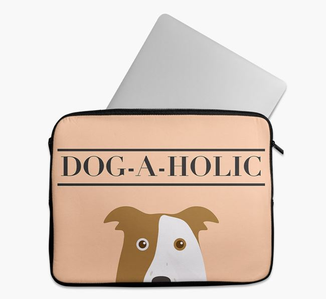 'Dog-A-Holic' Tech Pouch with Border Collie Yappicon