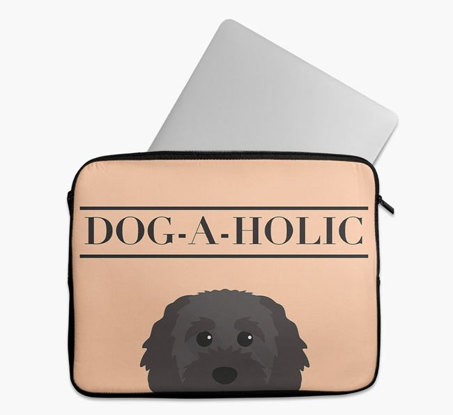 'Dog-A-Holic' Tech Pouch with Cavapoochon Yappicon