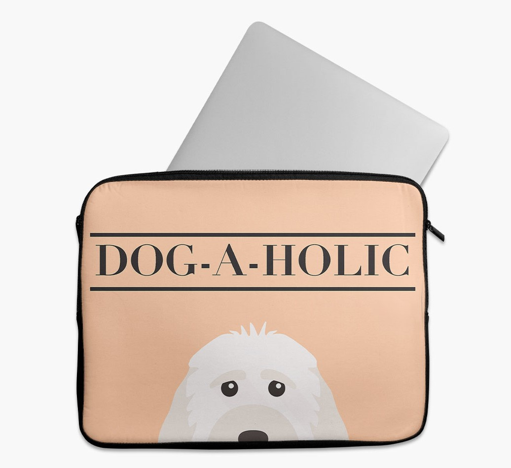 'Dog-A-Holic' Tech Pouch with Cockapoo Yappicon