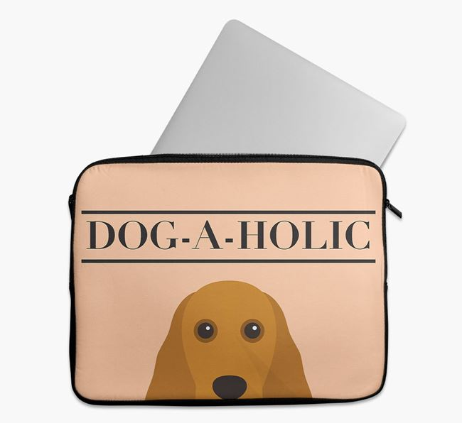 'Dog-A-Holic' Tech Pouch with Cocker Spaniel Yappicon