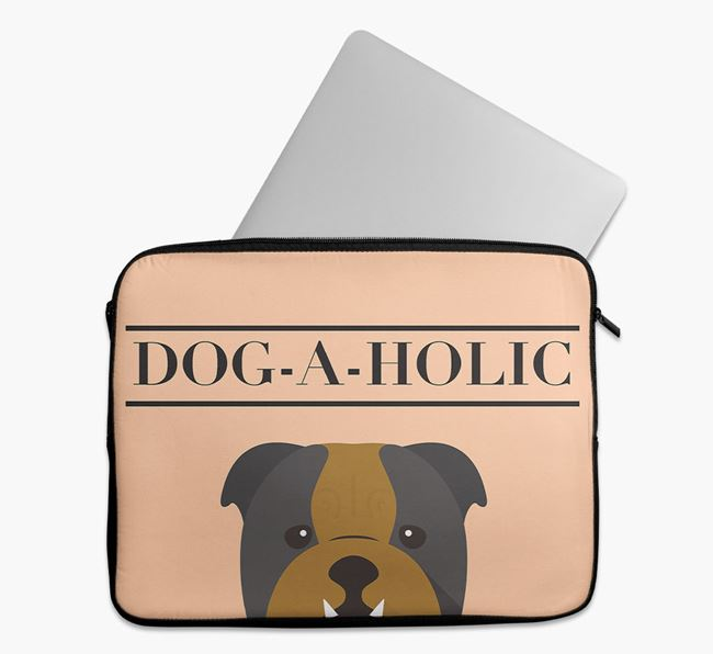 'Dog-A-Holic' Tech Pouch with English Bulldog Yappicon