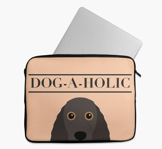 'Dog-A-Holic' Tech Pouch with Field Spaniel Yappicon