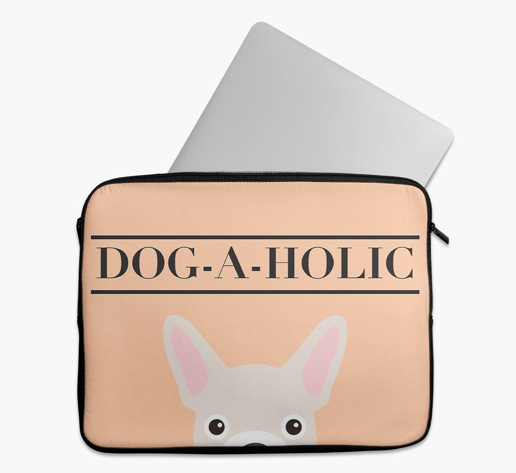 'Dog-A-Holic' Tech Pouch with French Bulldog Yappicon