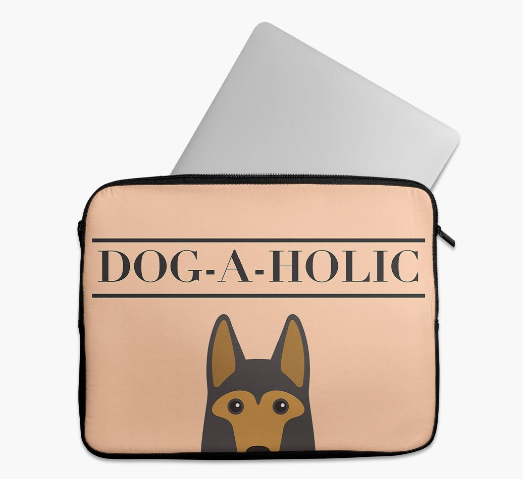 'Dog-A-Holic' Tech Pouch with German Shepherd Yappicon