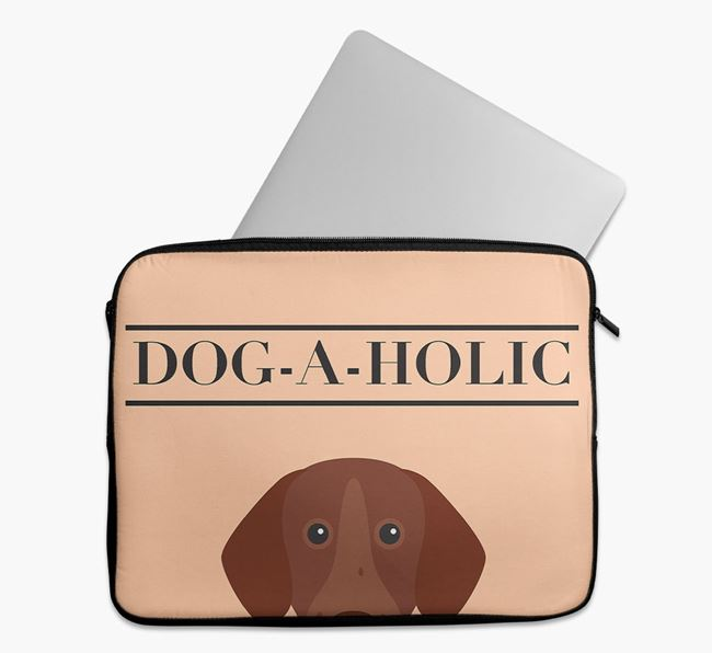 'Dog-A-Holic' Tech Pouch with German Shorthaired Pointer Yappicon
