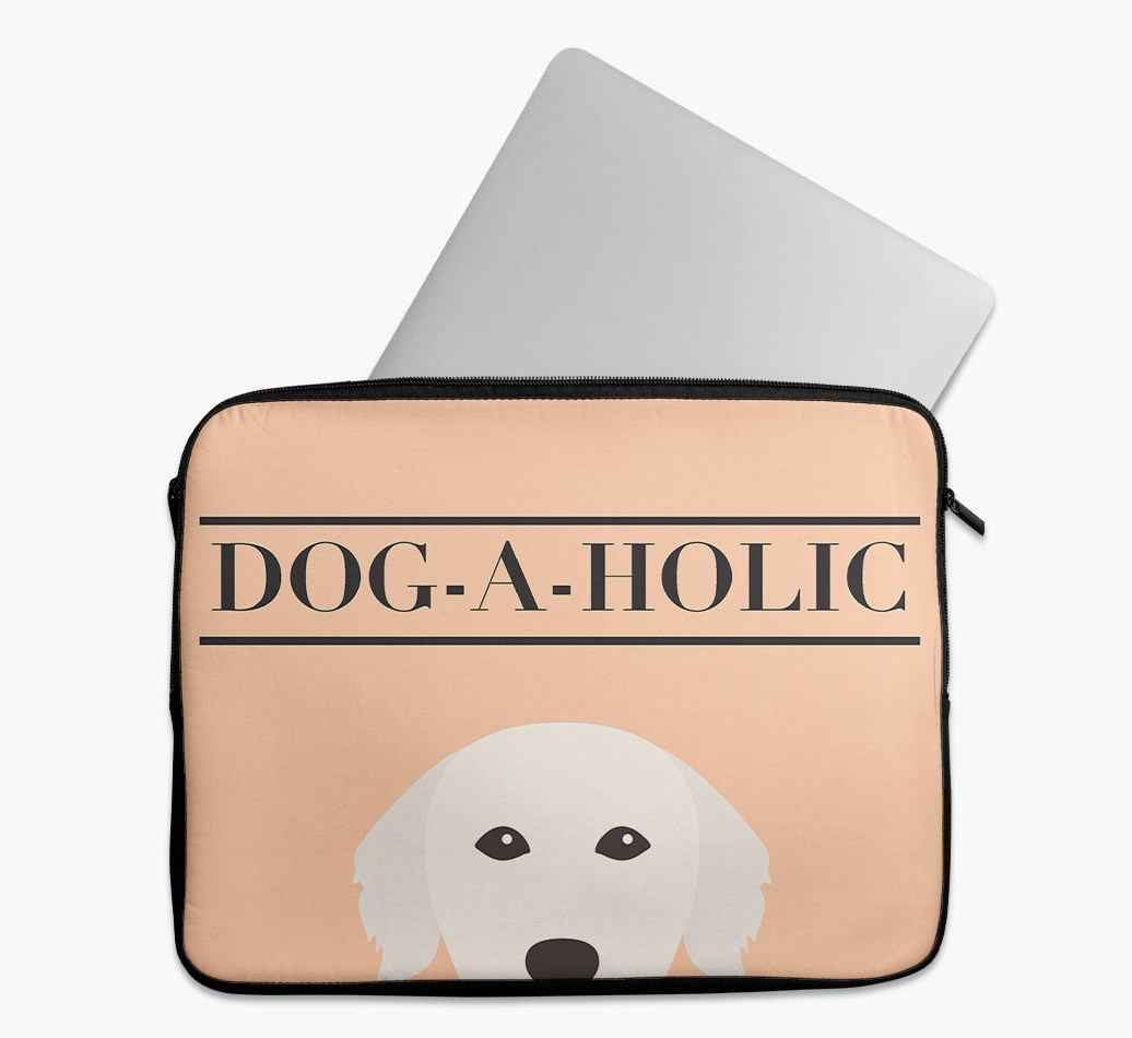 'Dog-A-Holic' Tech Pouch with Golden Retriever Yappicon