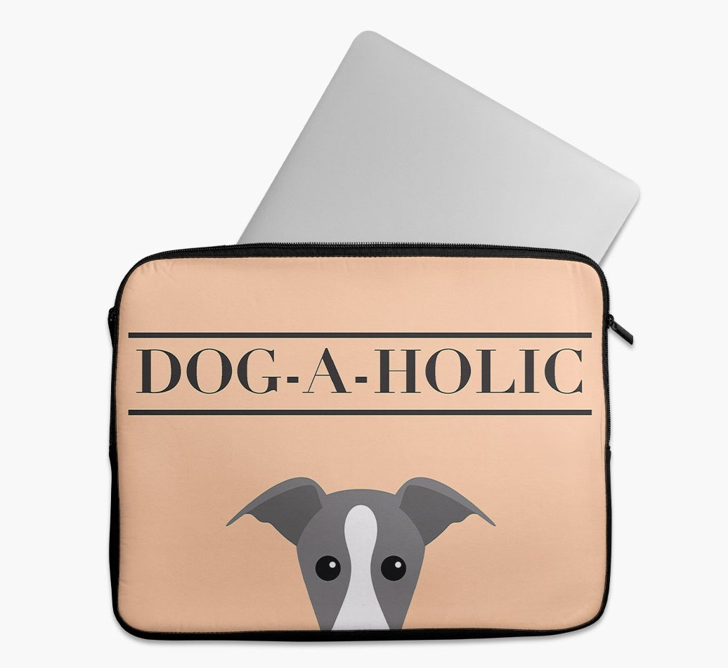 'Dog-A-Holic' Tech Pouch with Greyhound Yappicon