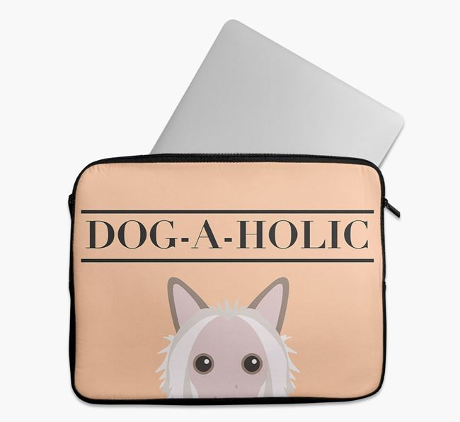 'Dog-A-Holic' Tech Pouch with Hairless Chinese Crested Yappicon