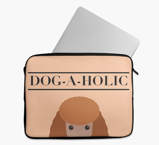 'Dog-A-Holic' Tech Pouch with Miniature Poodle Yappicon