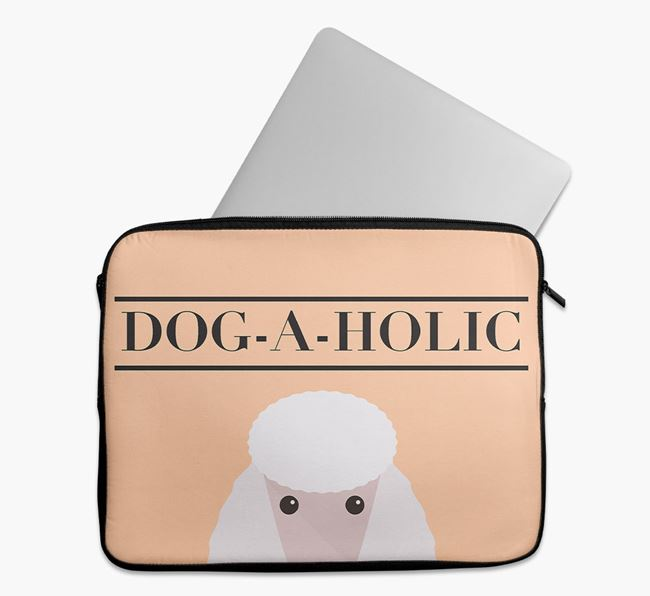 'Dog-A-Holic' Tech Pouch with Poodle Yappicon