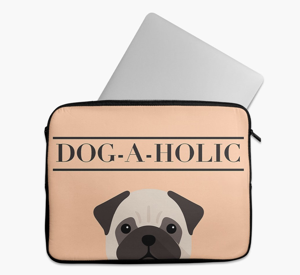 'Dog-A-Holic' Tech Pouch with Pug Yappicon