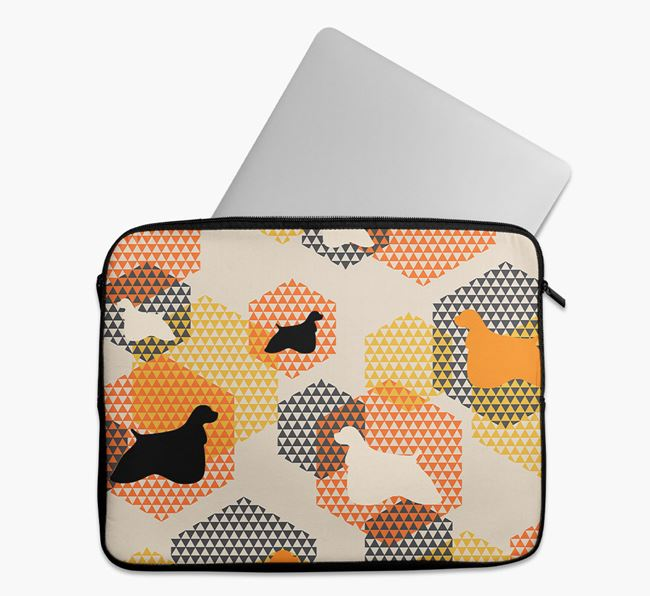 Tech Pouch Hexagons with American Cocker Spaniel Silhouettes