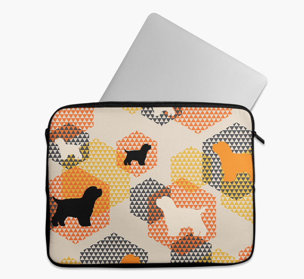 Tech Pouch 'Hexagons' with Bich-poo Silhouettes