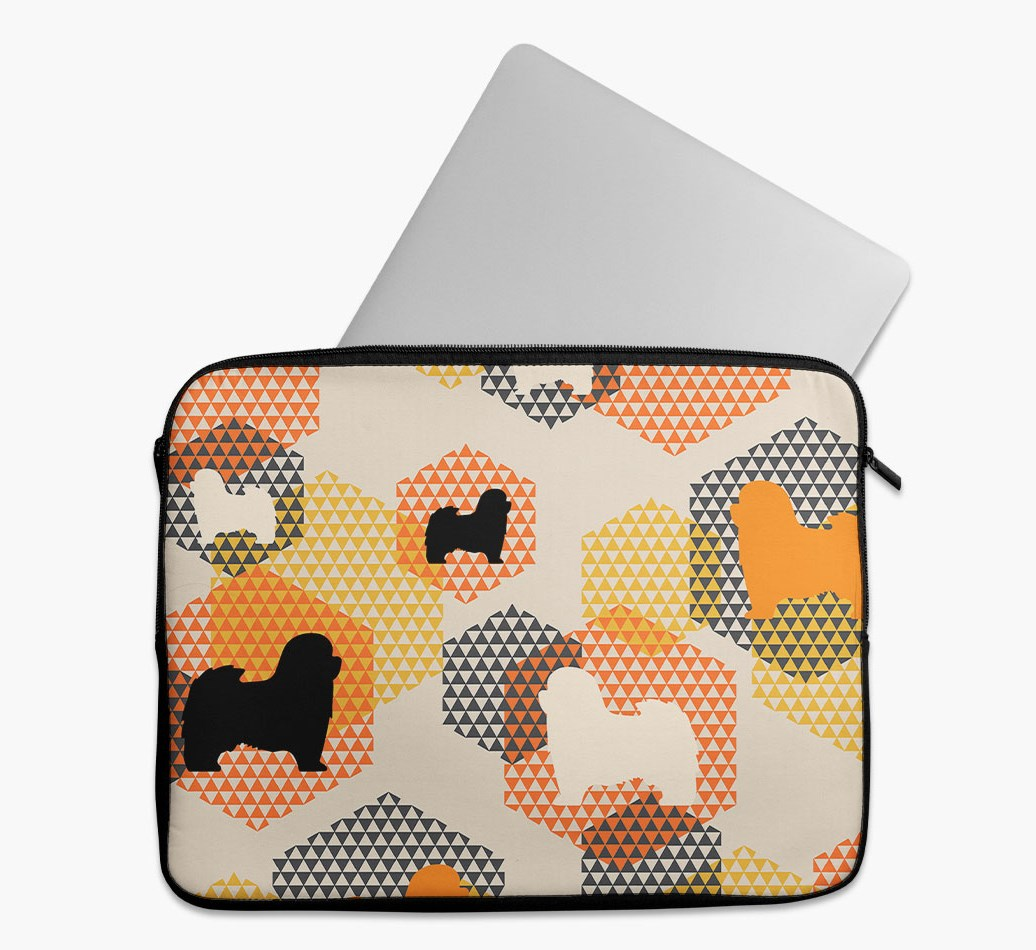 Tech Pouch 'Hexagons' with Havanese Silhouettes