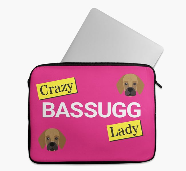 'Crazy Dog Lady' Tech Pouch with Bassugg Icons