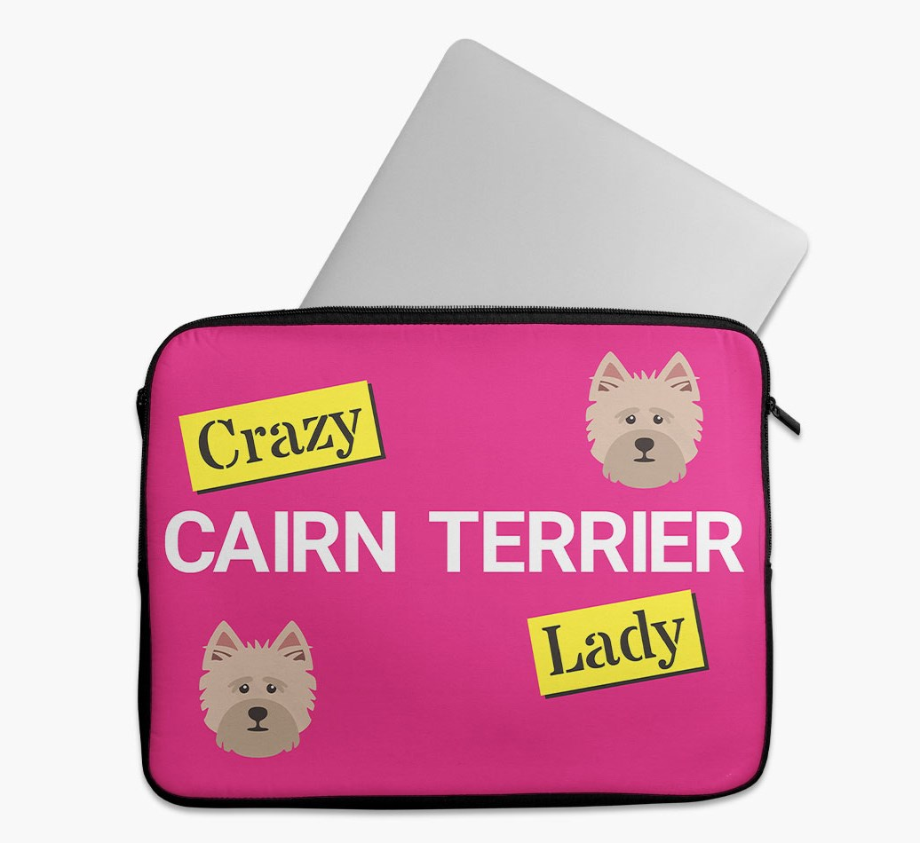 'Crazy Dog Lady' Tech Pouch with Cairn Terrier Yappicon