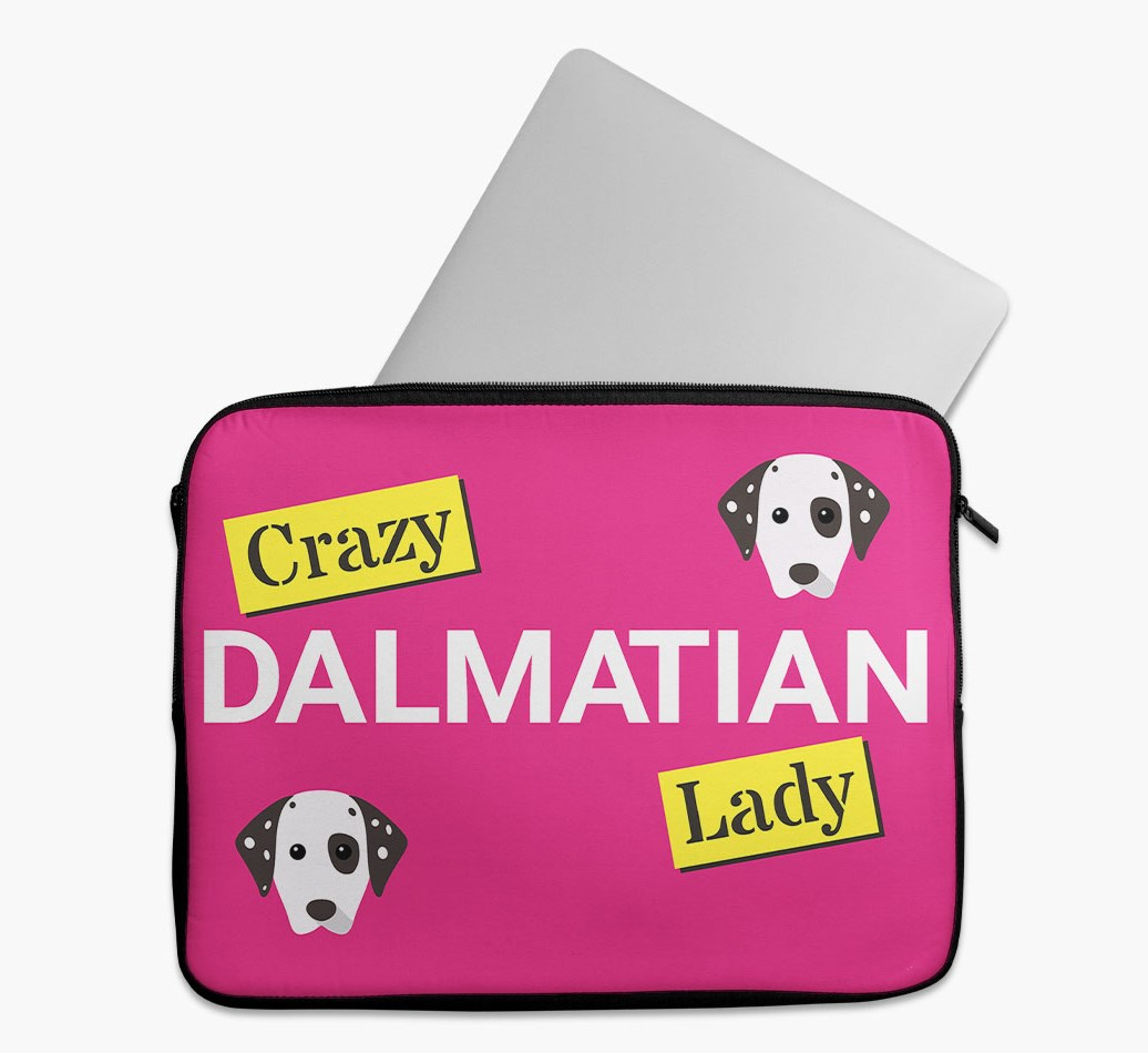 'Crazy Dog Lady' Tech Pouch with Dalmatian Yappicon
