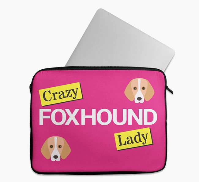 'Crazy Dog Lady' Tech Pouch with Foxhound Icons