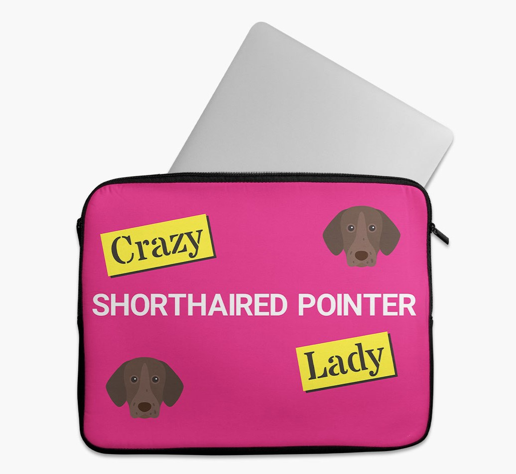 'Crazy Dog Lady' Tech Pouch with German Shorthaired Pointer Yappicon