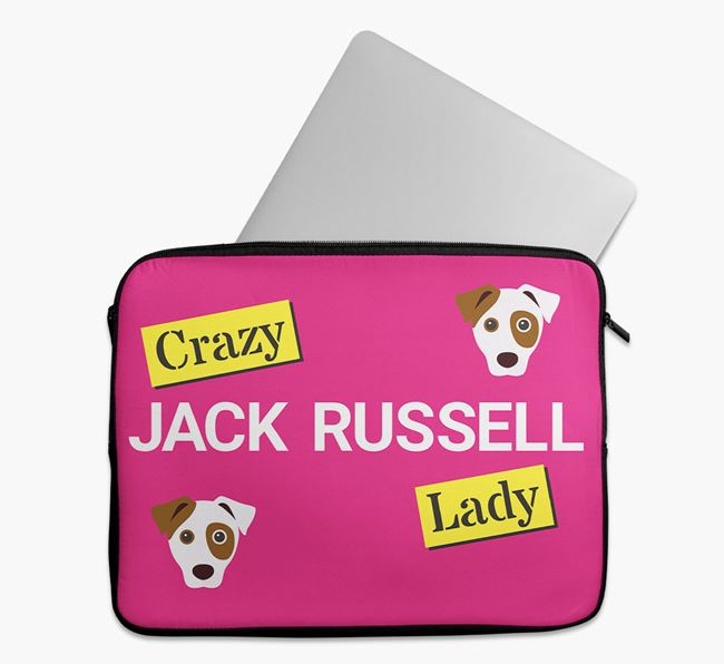'Crazy Dog Lady' Tech Pouch with Dog Icons