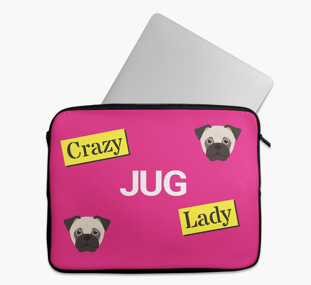 'Crazy Dog Lady' Tech Pouch with Jug Yappicon