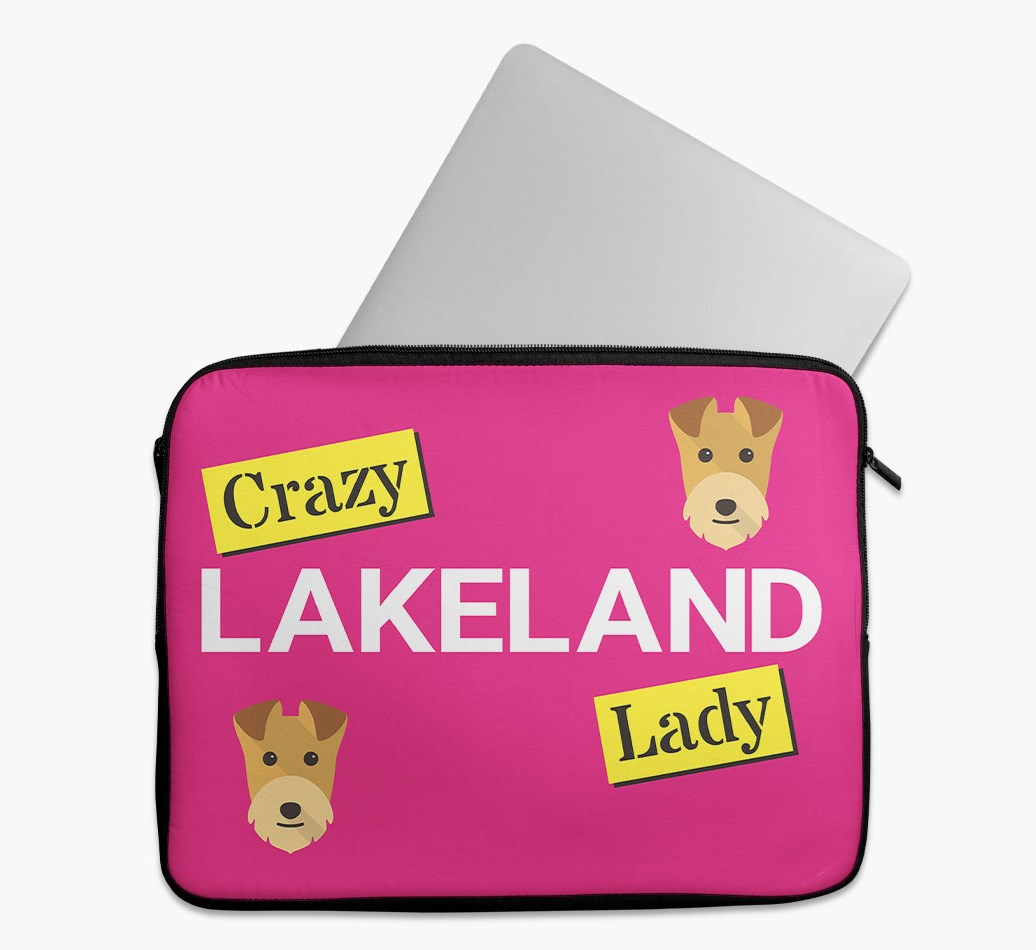 'Crazy Dog Lady' Tech Pouch with Lakeland Terrier Yappicon