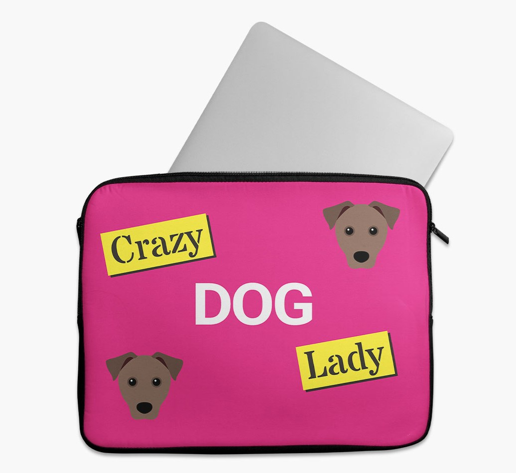 'Crazy Dog Lady' Tech Pouch with Mixed Breed Yappicon