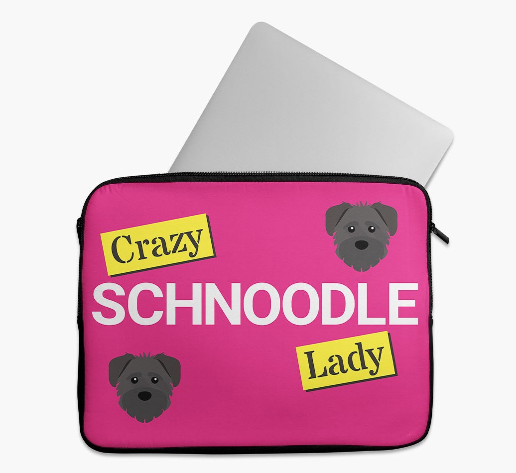 'Crazy Dog Lady' Tech Pouch with Schnoodle Yappicon