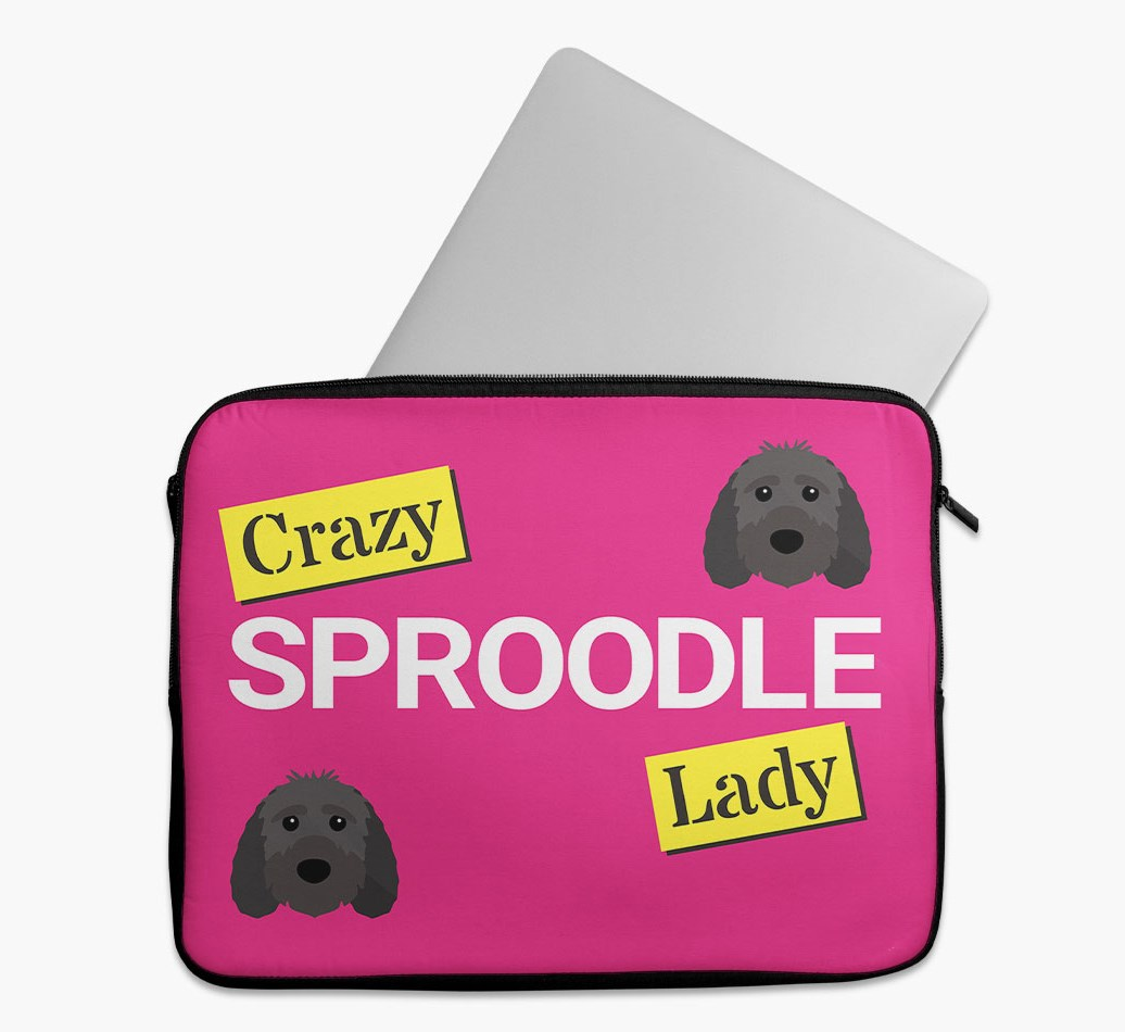 'Crazy Dog Lady' Tech Pouch with Sproodle Yappicon
