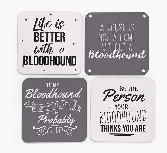 Bloodhound Quote Coasters - Set of 4