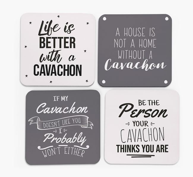 Cavachon Quote Coasters - Set of 4